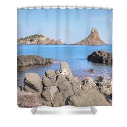 Aci Trezza - Sicily Shower Curtain by Joana Kruse