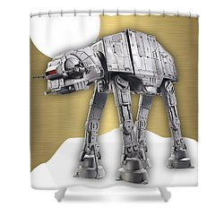 Star Wars At-at Collection Shower Curtain by Marvin Blaine