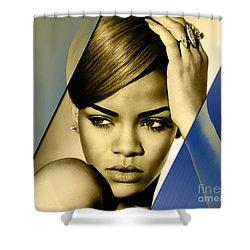Rihanna Collection Shower Curtain by Marvin Blaine