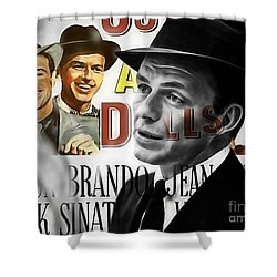 Frank Sinatra Collection Shower Curtain by Marvin Blaine