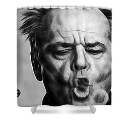 Jack Nicholson Collection Shower Curtain by Marvin Blaine