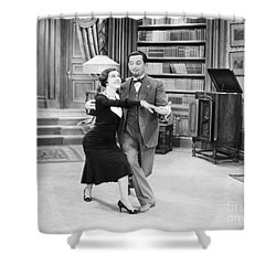 Silent Film Still: Dancing Shower Curtain by Granger