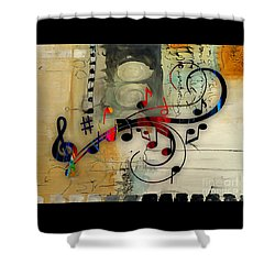 Music Flows Collection Shower Curtain by Marvin Blaine