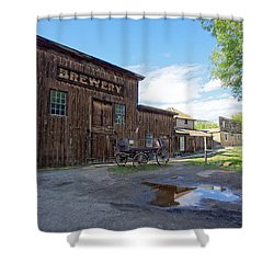 1863 H. S. Gilbert Brewery - Virginia City Ghost Town Shower Curtain by Daniel Hagerman