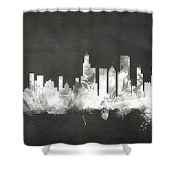 Chicago Illinois Skyline Shower Curtain by Michael Tompsett