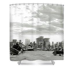 1926 Miami Hurricane  Shower Curtain by Jon Neidert
