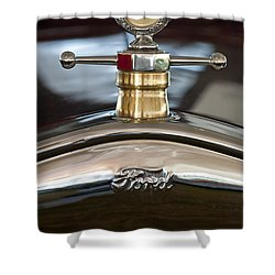 1927 Ford T Roadster Hood Ornament Shower Curtain by Jill Reger