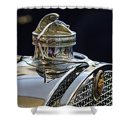 1929 Packard 8 Hood Ornament 3 Shower Curtain by Jill Reger