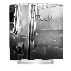 1930 Bambi Travel Trailer Shower Curtain by David Lee Thompson
