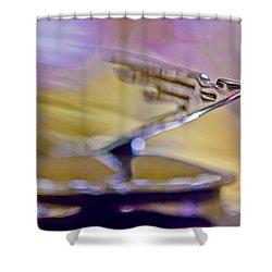 1931 Duesenberg Model J Hood Ornament Shower Curtain by Jill Reger