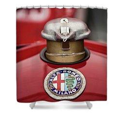 1934 Alfa Romeo Tipo B Hood Emblem Shower Curtain by Jill Reger