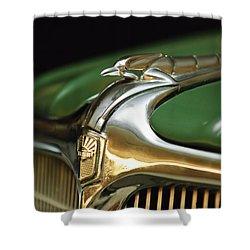 1934 Nash Ambassador 8 Hood Ornament Shower Curtain by Jill Reger