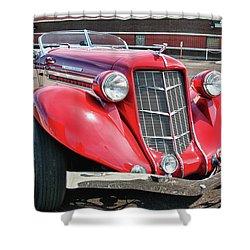 1935 Auburn Speedster 6870 Shower Curtain by Guy Whiteley