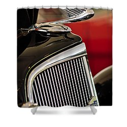 1935 Chevrolet Optional Eagle Hood Ornament Shower Curtain by Jill Reger