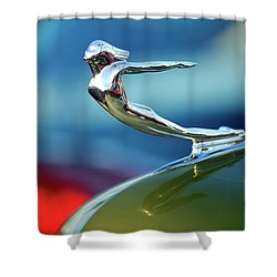 1936 Cadillac Hood Ornament 2 Shower Curtain by Jill Reger