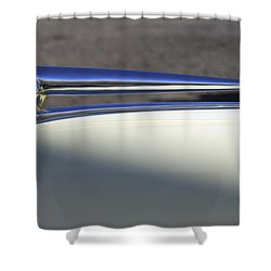 1941 Lincoln Continental Cabriolet V12 Hood Ornament Shower Curtain by Jill Reger