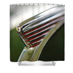 1941 Nash Ambassador 600 Hood Ornament Shower Curtain by Jill Reger