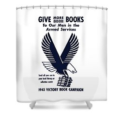 1943 Victory Book Campaign Shower Curtain by War Is Hell Store