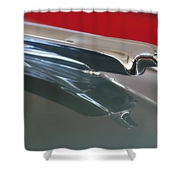 1948 Cadillac Series 62 Hood Ornament Shower Curtain by Jill Reger
