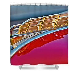 1949 Plymouth Hood Ornament Shower Curtain by Jill Reger
