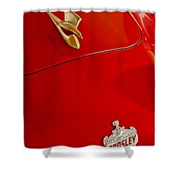 1951 Crosley Hot Shot Hood Ornament Shower Curtain by Jill Reger