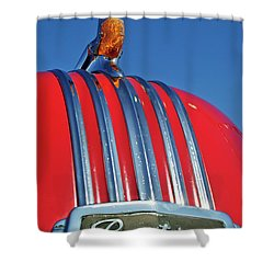 1951 Pontiac Chief Hood Ornament 2 Shower Curtain by Jill Reger