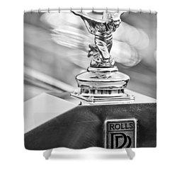 1952 Rolls-royce Silver Wraith Hood Ornament 2 Shower Curtain by Jill Reger