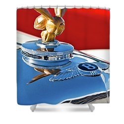 1954 Bentley One Of A Kind Hood Ornament Shower Curtain by Jill Reger