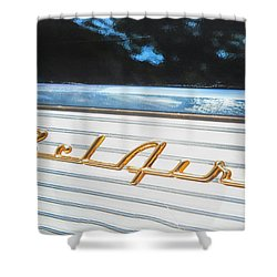 1957 Chevrolet Bel Air Shower Curtain by Theresa Tahara