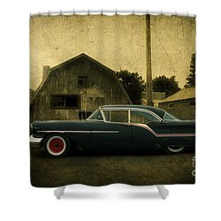 1957 Oldsmobile Shower Curtain by Joel Witmeyer