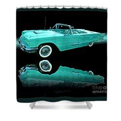 1959 Ford Thunderbird Shower Curtain by Jim Carrell