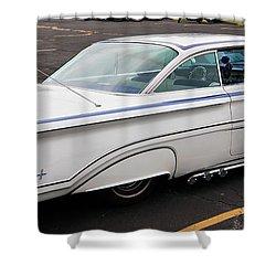 1960 Olds Eighty Eight 2023 Shower Curtain by Guy Whiteley
