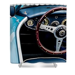 Shower Curtain featuring the photograph 1961 Austin Healey 3000 by M G Whittingham