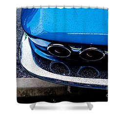 Shower Curtain featuring the photograph 1965 Corvette Sting Ray by M G Whittingham