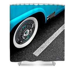 Shower Curtain featuring the photograph 1958 Ford Crown Victoria by M G Whittingham
