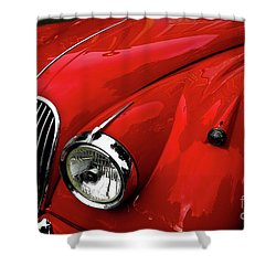 Shower Curtain featuring the photograph 1960s Jaguar by M G Whittingham