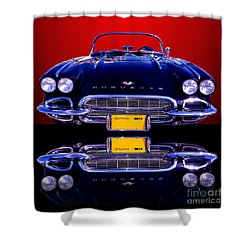 1961 Chevy Corvette Shower Curtain by Jim Carrell