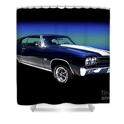 1970 Chevelle Ss Shower Curtain by Peter Piatt