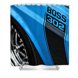 1970 Ford Mustang Boss 302 Shower Curtain by Gordon Dean II