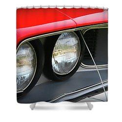 1971 Plymouth Barracuda Cuda Red  Shower Curtain by Gordon Dean II