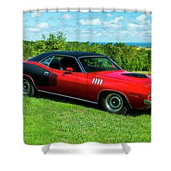 1971 Plymouth Shower Curtain by Performance Image