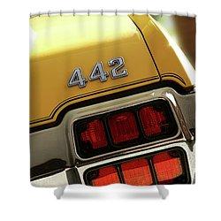 1972 Oldsmobile Cutlass 4-4-2 Shower Curtain by Gordon Dean II