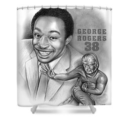 1980 Heisman Winner Shower Curtain by Greg Joens