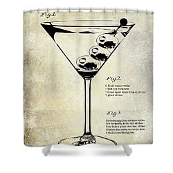 1897 Dirty Martini Patent Shower Curtain by Jon Neidert