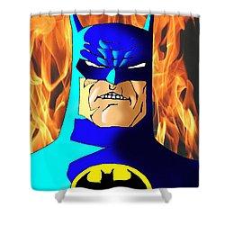 Old Batman Shower Curtain by Salman Ravish