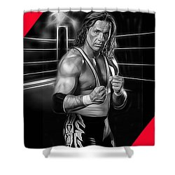 Bret Hart The Hitman Wrestling Collection Shower Curtain by Marvin Blaine