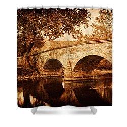 Burnside Bridge Shower Curtain by Mick Burkey