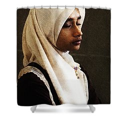 Deep In Thought Shower Curtain by Avalon Fine Art Photography