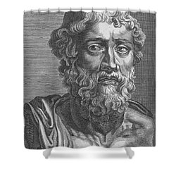 Demosthenes, Ancient Greek Orator Shower Curtain by Photo Researchers