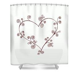 Heart Shower Curtain by Frank Tschakert
